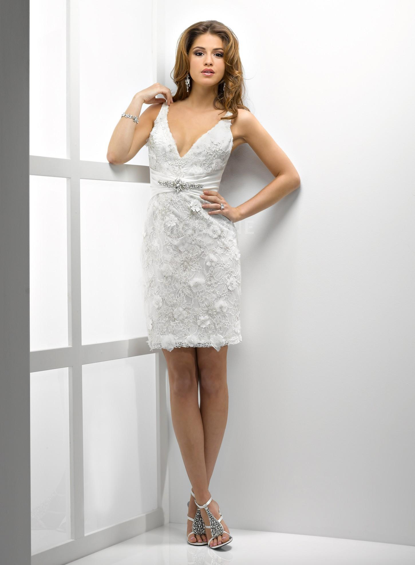 Robe blanche courte collection 2016